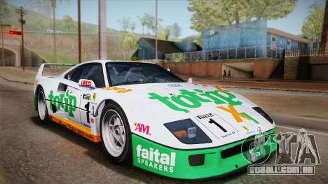 Ferrari F40 (EU-Spec) 1989 IVF para GTA San Andreas vista superior