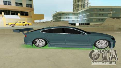 AUDI A7 SPORTS para GTA Vice City deixou vista