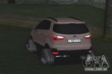 Ford Ecosport Off-Road para GTA San Andreas vista direita