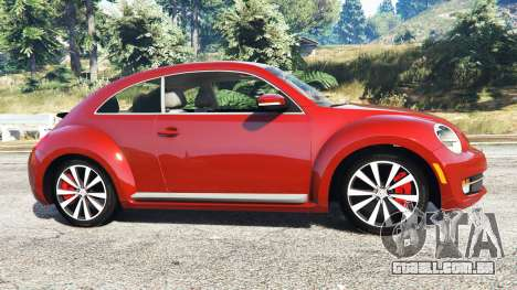 GTA 5 Volkswagen Beetle Turbo 2012 [replace] vista lateral esquerda