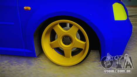 Dacia Logan Stance Haur Edition para GTA San Andreas vista traseira