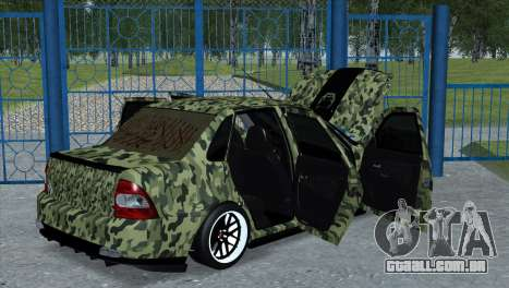 Lada Priora Style para GTA San Andreas esquerda vista