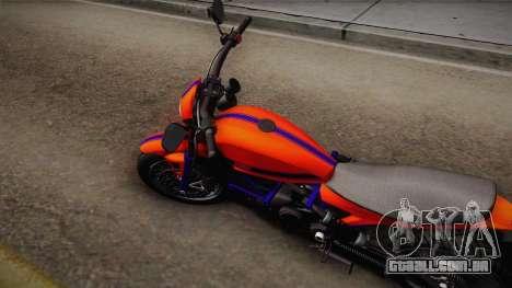 GTA 5 Pegassi Esskey PJ2 para GTA San Andreas traseira esquerda vista
