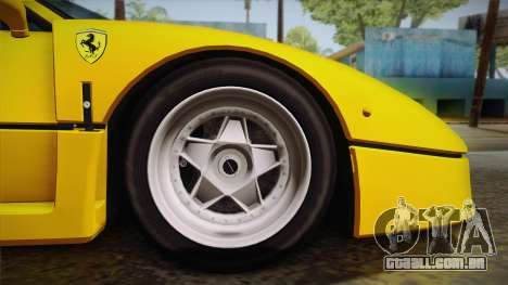 Ferrari F40 (EU-Spec) 1989 IVF para GTA San Andreas vista traseira