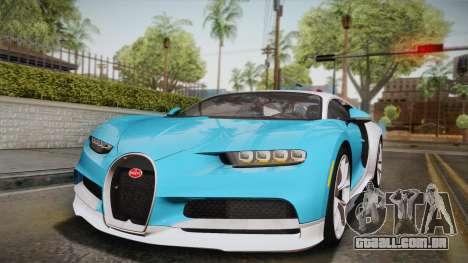 Bugatti Chiron 2017 para GTA San Andreas vista inferior
