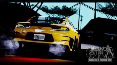 Chevrolet Camaro SS 2016 Bumblebee TF 5 para GTA San Andreas vista direita