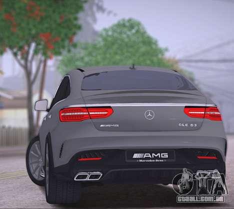 Mercedes-Benz GLE AMG para GTA San Andreas vista direita