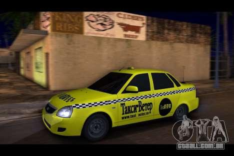 Lada Priora Táxi-O Vento para GTA San Andreas traseira esquerda vista