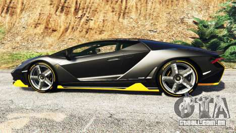 GTA 5 Lamborghini Centenario LP770-4 2017 [add-on] vista lateral esquerda