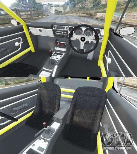GTA 5 Nissan Skyline GT-R C110 Liberty Walk [replace] frente vista lateral direita