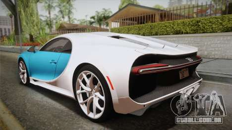 Bugatti Chiron 2017 para GTA San Andreas esquerda vista