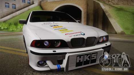 BMW M5 E39 Turbo King para GTA San Andreas traseira esquerda vista