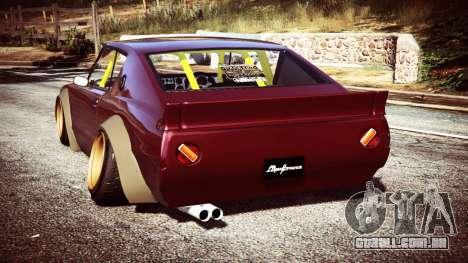 GTA 5 Nissan Skyline GT-R C110 Liberty Walk [replace] traseira vista lateral esquerda