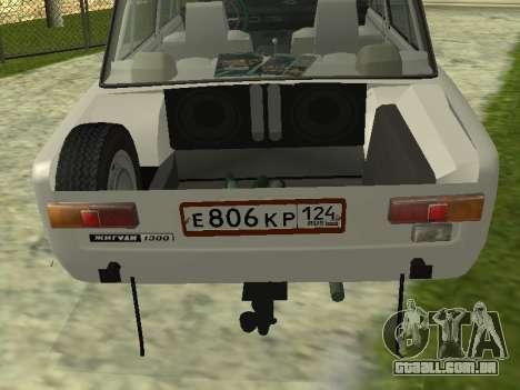 VAZ 21013 124RUSSIA 2 para GTA San Andreas vista traseira