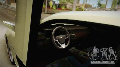 Chevrolet Camaro Synergy para GTA San Andreas vista interior