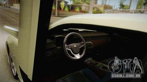 Chevrolet Camaro Synergy para GTA San Andreas vista interior