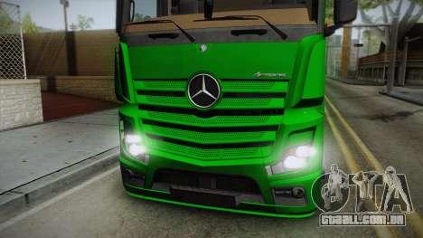 Mercedes-Benz Actros Mp4 6x2 v2.0 Bigspace para GTA San Andreas traseira esquerda vista