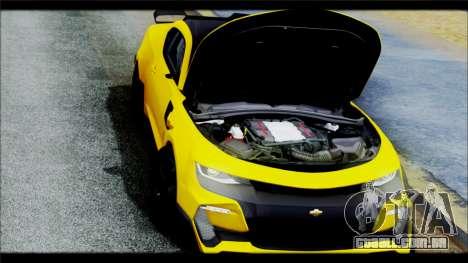 Chevrolet Camaro SS 2016 Bumblebee TF 5 para GTA San Andreas vista interior