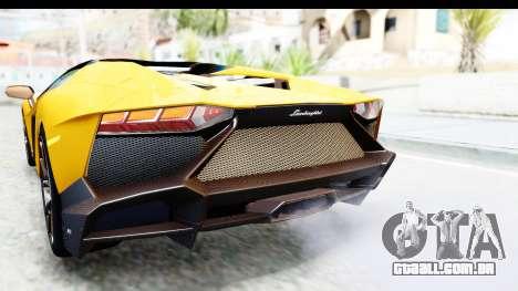 Lamborghini Aventador LP720-4 Roadster 2013 para GTA San Andreas interior