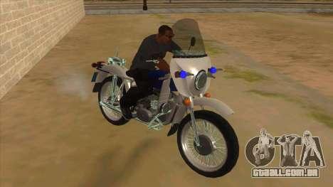 Ural De Polícia para GTA San Andreas vista traseira