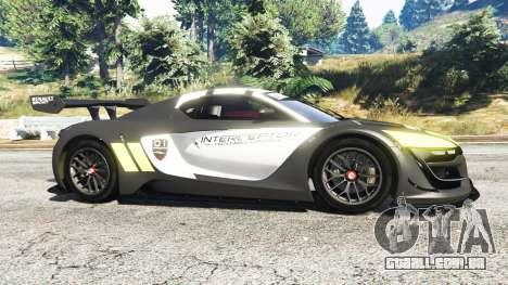 GTA 5 Renault Sport RS 01 2014 Police Interceptor [r] vista lateral esquerda