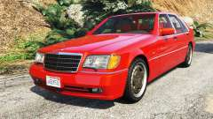 Mercedes-Benz W140 AMG orange signals [replace] para GTA 5