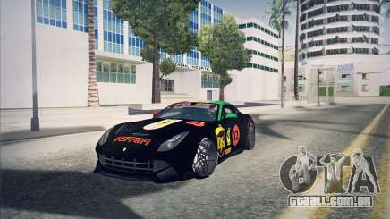 Ferrari F12 Berlinetta чёрный para GTA San Andreas