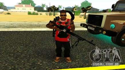 PKM Preto para GTA San Andreas