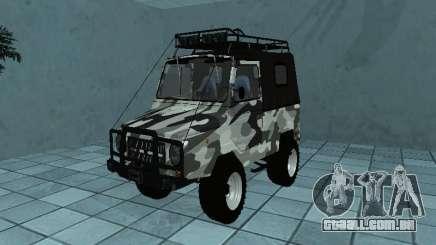 LUAZ 969М Inverno camo para GTA San Andreas