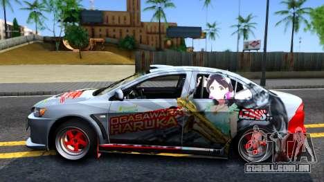 Ogasawara Haruka MITSUBISHI EVO X Itasha para GTA San Andreas