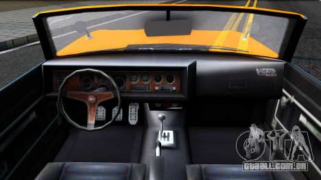 GTA V Declasse Vigero Retro Rim para GTA San Andreas vista interior
