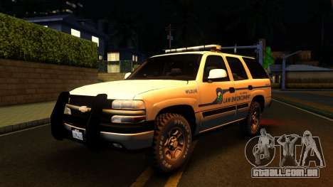 2004 Chevy Tahoe State Wildlife para GTA San Andreas