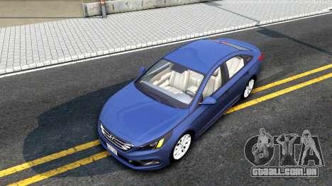 Hyundai Sonata 2016 para GTA San Andreas vista traseira