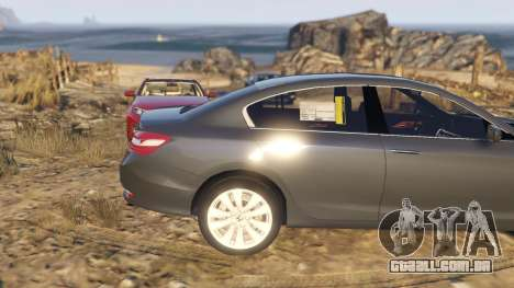 GTA 5 Honda Accord 2017 vista lateral direita