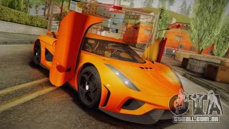 Koenigsegg Regera 2016 Bonus para GTA San Andreas