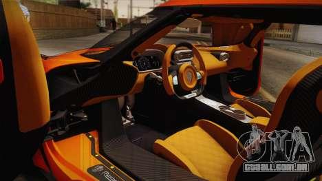 Koenigsegg Regera 2016 Bonus para GTA San Andreas traseira esquerda vista