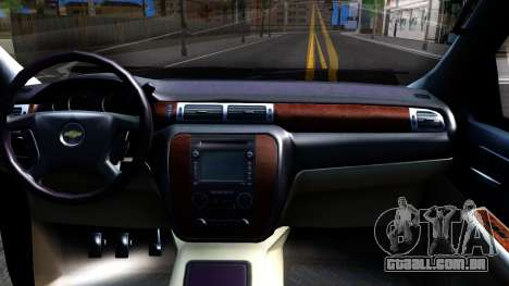 Chevrolet HD 3500 2013 para GTA San Andreas vista interior