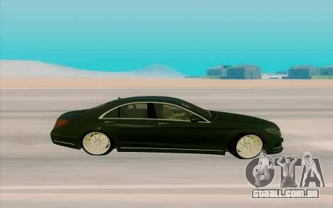 Mercedes Benz S63 para GTA San Andreas esquerda vista