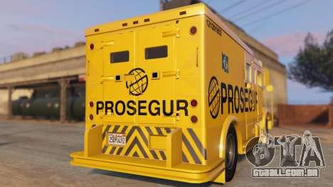GTA 5 Carro Forte Prosegur Brasil traseira vista lateral esquerda