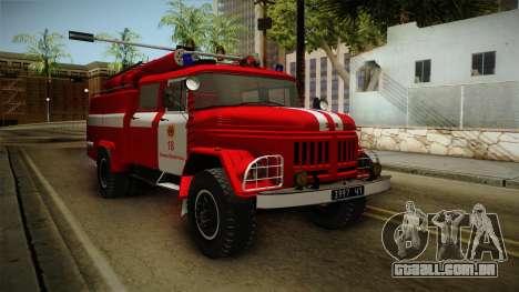O Amur ZIL 131 Caminhão de bombeiros para GTA San Andreas