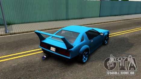 New Buffalo Custom para GTA San Andreas traseira esquerda vista