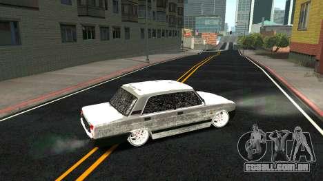 2107 Clássico 2 edição de Inverno para GTA San Andreas interior