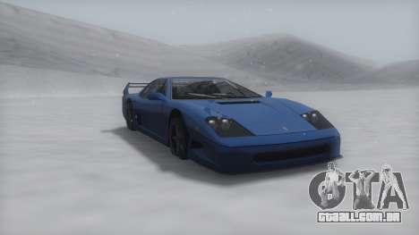 Turismo Winter IVF para GTA San Andreas esquerda vista