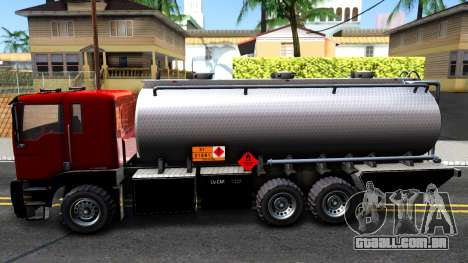 GTA V MTL Dune Oil Tanker para GTA San Andreas esquerda vista