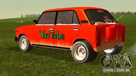 VAZ 2105 patch 4.0 para GTA San Andreas esquerda vista
