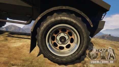GTA 5 Punisher Unarmed Version traseira direita vista lateral