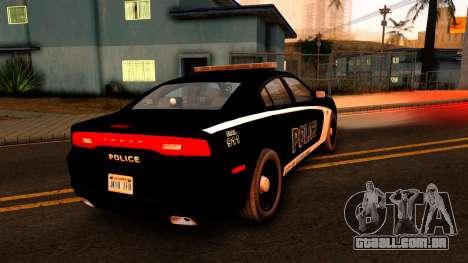 2014 Dodge Charger Cleveland TN Police para GTA San Andreas traseira esquerda vista