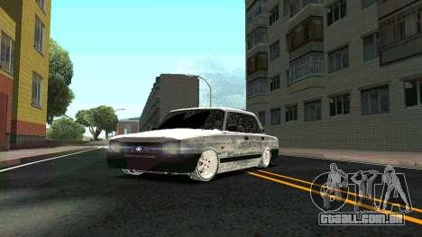 2107 Clássico 2 edição de Inverno para vista lateral GTA San Andreas