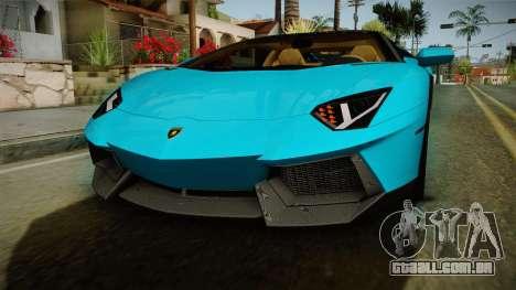 Lamborghini Aventador Itasha Rias Gremory para GTA San Andreas vista superior