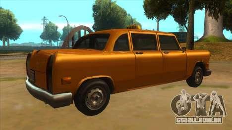 VC Cabbie Xbox para GTA San Andreas vista direita